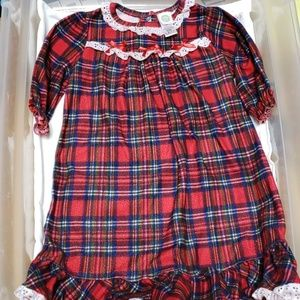 Little Me girls. 18mos  flannel Christmas Gown